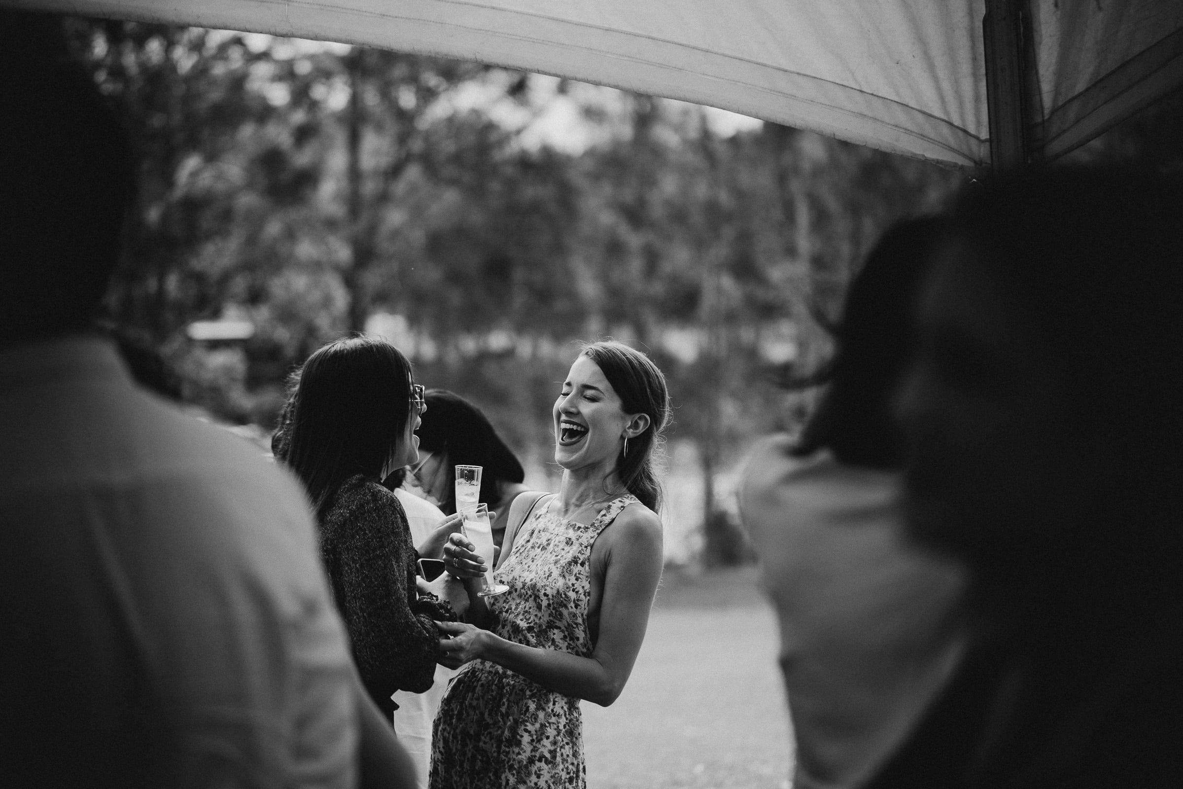 Australian backyard elopement reception